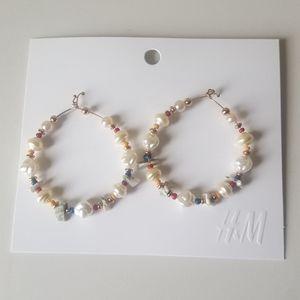 Beaded Hoop earrings H&M